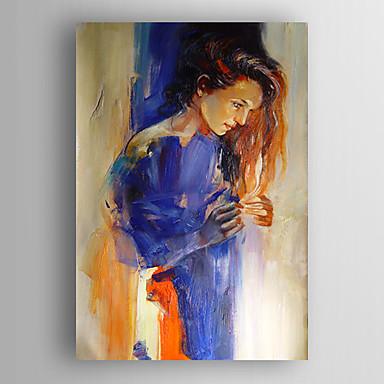 Pintados à mão Retratos AbstratosModerno 1 Painel Tela Pintura a Óleo For Decoração para casa