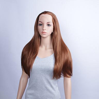 Synteettiset peruukit Suora Naisten Lace Front Synteettiset hiukset