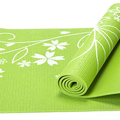 Yoga Matte Lugtfri, Økovennlig, Klistret, Ikke Giftig PVC Vanntett, Fort Tørring, Non-Slip Til Yoga & Danse Sko / Pilates / Trening & Fitness Rød, Grønn, Blå