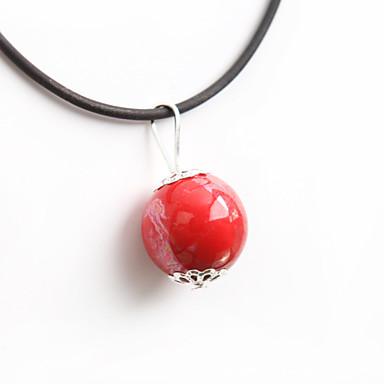 abordables Collier-Collier Pendentif Femme Classique Mode Rouge Colliers Tendance Bijoux pour Soirée Quotidien Décontracté