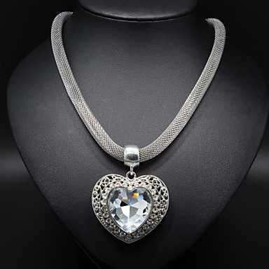 Women's Heart Heart Statement Necklace Alloy Statement Necklace , Thank You Valentine