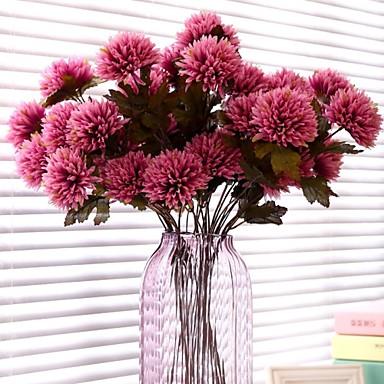 1 şube İpek Plastik Papatyalar Masaüstü Çiçeği Yapay Çiçekler