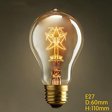 e27 40w a19 café estrela edison Europeus e americanos retro tradicional decoração luz