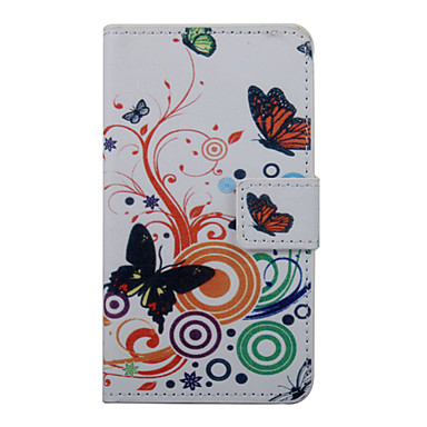 Case For Wiko Wiko Case Card Holder Wallet with Stand Flip Pattern Full Body Cases Butterfly Hard PU Leather for
