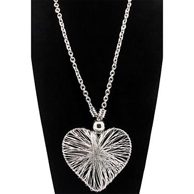 Colar Colares Declaração Jóias Formato de Coração Coração Liga Feminino Dom Dourado