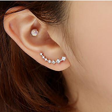 Women's Stud Earrings Luxury Fashion Rhinestone Imitation Diamond Alloy Star Jewelry Wedding Party Daily Casual Costume Jewelry