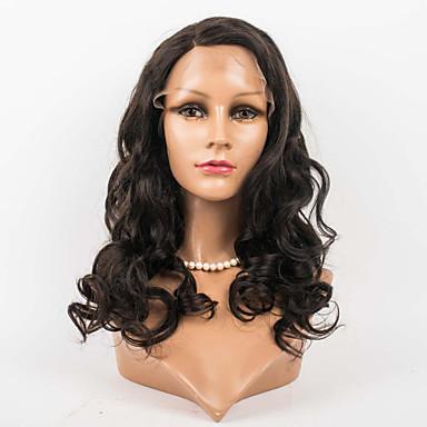 abordables Perruques Naturelles Dentelle-Perruque Cheveux Naturel humain Lace Frontale Cheveux Brésiliens Ondulation naturelle 120% 16 pouce avec des cheveux de bébé Cheveux Colorés Ligne de Cheveux Naturelle Perruque afro-américaine 100