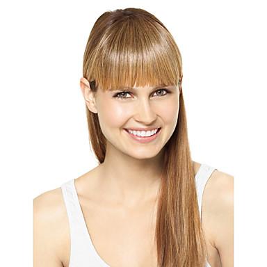 Syntetiske parykker Rett Syntetisk hår Blond Parykk Lokkløs