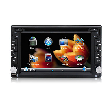 2 Din In Dash Car DVD Player/6.2
