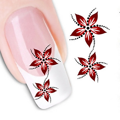 1pcs Water Transfer Sticker 3D Nail Stickers Nail Stamping Template Daily Flower Abstract Fashion High Quality