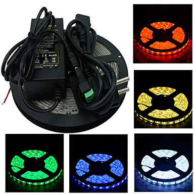 ZDM® RGB szalagfények 300 LED Meleg fehér Fehér Zöld Sárga Kék Piros Cuttable 100-240V