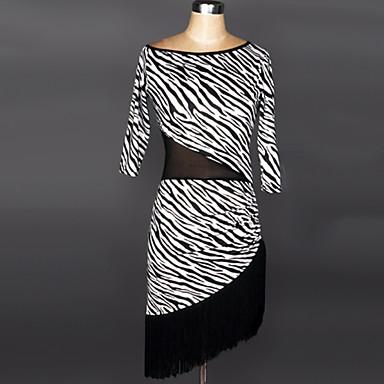Latin Dance Dresses Women's Performance Polyester / Spandex Tassel Dress / Samba