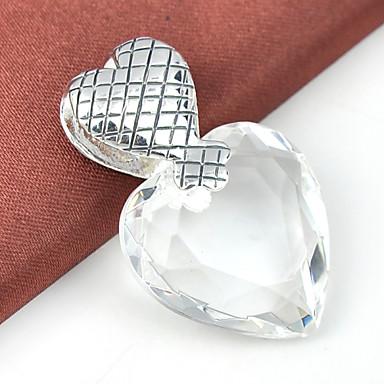 Erkek Kadın Kolye Uçları Kalp Değerli Taş Gümüş Kaplama Sarı Yakut Aşk Kalp Mücevher Uyumluluk Düğün Parti Günlük Spor