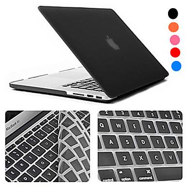 "billige Apple-tilbehør-MacBook Etui / Kombinert beskyttelse Etuier med tastatur Ensfarget / Gjennomsiktig ABS til MacBook Pro 13 "" / MacBook Air 11 "" / MacBook Pro 13 "" med Retina-display"
