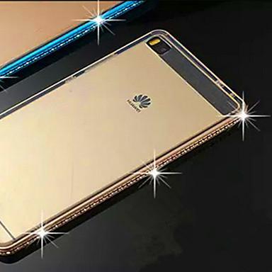 Para Capinha Huawei P8 Case Tampa Com Strass Transparente Capa Traseira Capinha Côr Sólida Rígida PUT para Huawei Huawei P8