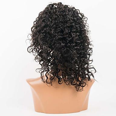 Натуральные волосы Полностью ленточные Лента спереди Парик Кудрявый 120% плотность 100% ручная работа Парик в афро-американском стиле
