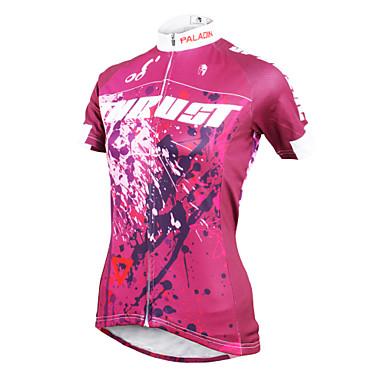 ILPALADINO Pyöräily jersey Naisten Lyhythihainen Pyörä Jersey Topit Nopea kuivuminen Ultraviolettisäteilyn kestävä Hengittävä Puristus