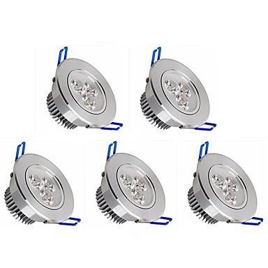 5pcs 350lm Gömme Işıklar 3 LED Boncuklar Yüksek Güçlü LED Kısılabilir Sıcak Beyaz / Serin Beyaz