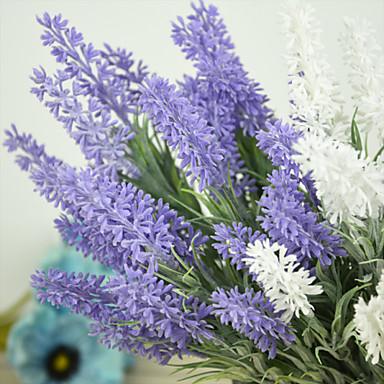 Plastik Açık Mavi Yapay Çiçekler