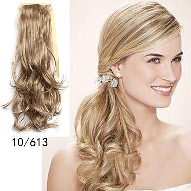 Tape In Wavy Ponytails Hair Piece Hair Extension Blonde