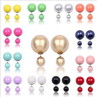 Women's Stud Earrings Luxury Imitation Diamond Alloy Ball Jewelry For Party Daily Casual
