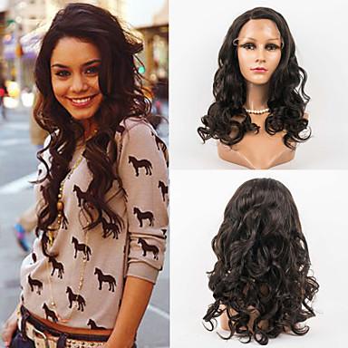 Emberi haj Csipke eleje Paróka Hullámos 120% Sűrűség 100% kézi csomózású Afro-amerikai paróka Természetes hajszálvonal Ombre haj Hosszú
