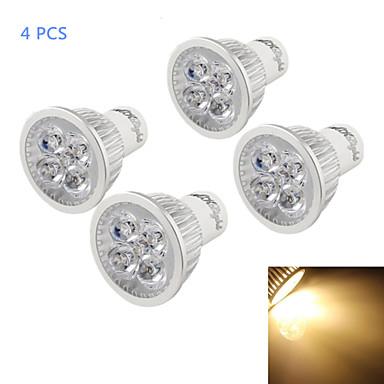 YouOKLight 4W 320-350 lm GU10 Lâmpadas de Foco de LED A50 4 leds LED de Alta Potência Regulável Decorativa Branco Quente AC 110-130V