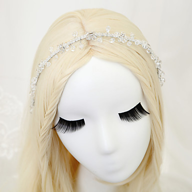 Tulle Crystal Alloy Headbands with Feather 1 Wedding Special Occasion Birthday Event/Party Party / Evening Headpiece