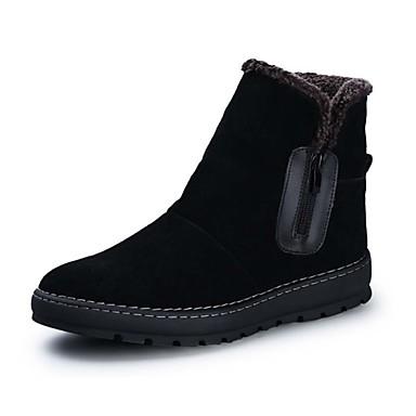 Férfi Újdonság Görkorcsolya cipők Cowboy / Western csizmák Kényelmes Fordított bőr Tavasz Ősz Tél Sport Hétköznapi Party és Estélyi Cipzár