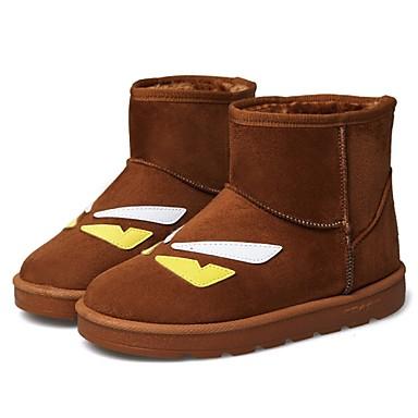 Női Cipő Szintetikus Bőrutánzat Tavasz Ősz Tél Kényelmes Újdonság Görkorcsolya cipők Közepesen magas szárú bakancs Lapos Bokacsizmák