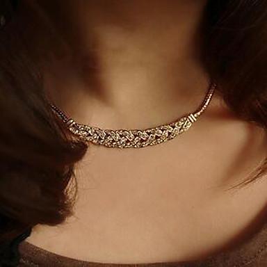 Kadın's Açıklama Kolye  -  Yapay Elmas Moda Gümüş, Altın Kolyeler Uyumluluk Düğün, Parti, Günlük