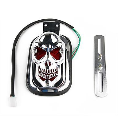 crânio cauda lanterna traseira do suporte da placa de licença luz para a motocicleta harley