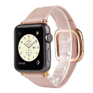 Klokkerem til Apple Watch Series 3 / 2 / 1 Apple Moderne spenne Ekte lær Håndleddsrem