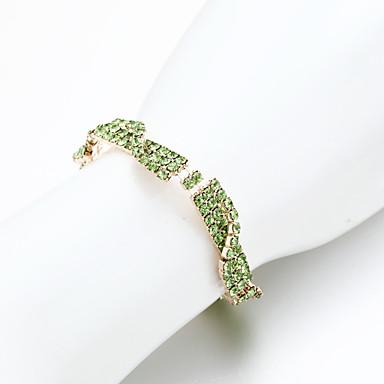 kadın zincir / tenis bileziği alaşımlı elmas taklidi şık stil