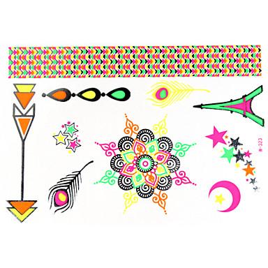 1Pc Luminous Waterfroof Tattoo Sticker 23x15.5CM Keeping 7 Days