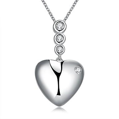Női Rövid nyakláncok Nyaklánc medálok Nyilatkozat nyakláncok Heart Shape Ezüst Szerelem Szív jelmez ékszerek Ékszerek Kompatibilitás