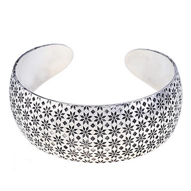 Kadın's Halhallar - Gümüş Kaplama Açık Bilezikler Gümüş Uyumluluk Parti / Günlük