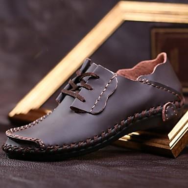Muškarci Cipele Koža Proljeće Jesen Obuća s kotačićima Udobne cipele Oksfordice Vezanje za Kauzalni Work & Safety Ured i karijera Zabava