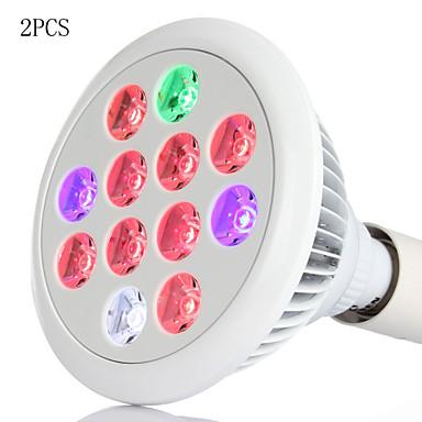 2db morsen® 36W E27 vezetett nőnek izzók teljes spektrumát vezetett üzem nő lámpát növényvédő hidrokultúrás