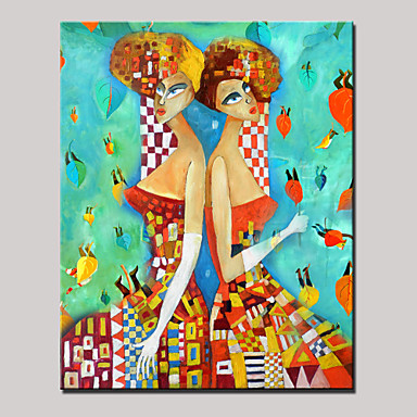 Hand-Painted People Vertical, Modern Canvas Oil Painting Home Decoration One Panel