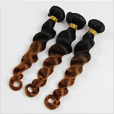 Hair Vetülék, zárral Brazil haj Laza hullám 6 hónap 4 darab haj sző