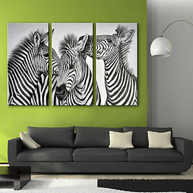 Animals Three Panels Vertical Print Wall Decor Home Decoration