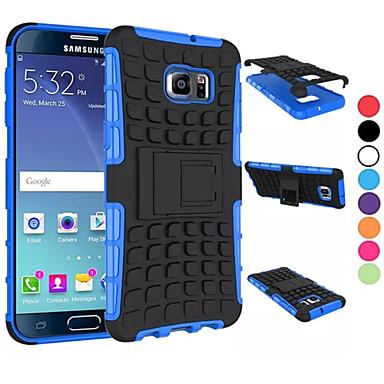 Case Kompatibilitás Samsung Galaxy Samsung Galaxy tok Ütésálló Állvánnyal Fekete tok Páncél PC mert S8 Plus S8 S6 edge plus S6 edge S6 S5