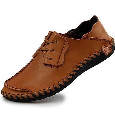 Men's Nappa Leather Fall / Winter Comfort Oxfords Black / Coffee / Light Brown / Party & Evening
