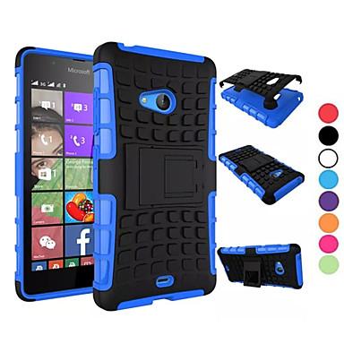 Hülle Für Nokia Lumia 630 / Nokia Lumia 950 / Nokia Lumia 540 Nokia Hülle Stoßresistent / mit Halterung Rückseite Rüstung Hart PC für Nokia Lumia 640 XL / Nokia Lumia 535 / Nokia Lumia 435