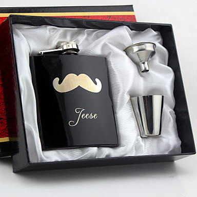 Personalized Stainless Steel Barware & Flasks Hip Flasks Groom Groomsman Couple Parents Wedding Anniversary Birthday Housewarming