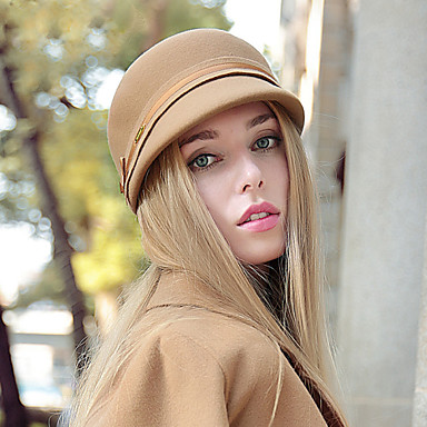 Women's Ivy Cap Wool Hat British Style Fashion Army Cap