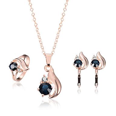 女性用 ジュエリーセット - イミテーションダイヤモンド ぜいたく 含める ローズゴールド 用途 結婚式 / パーティー / 日常 / リング