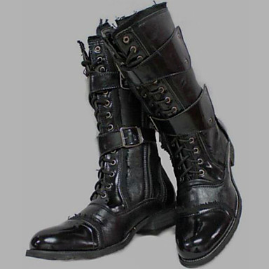 Men's Shoes Outdoor / Office & Career / Party & Evening / Dress / Casual Canvas / Patent Leather Boots Black