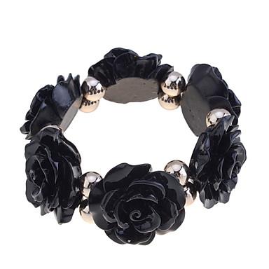 Dame Strand Armbånd - Harpiks Roser, Blomst Unikt design, Mote Armbånd Oransje / Beige / Rosa Til Fest / Daglig / Avslappet
